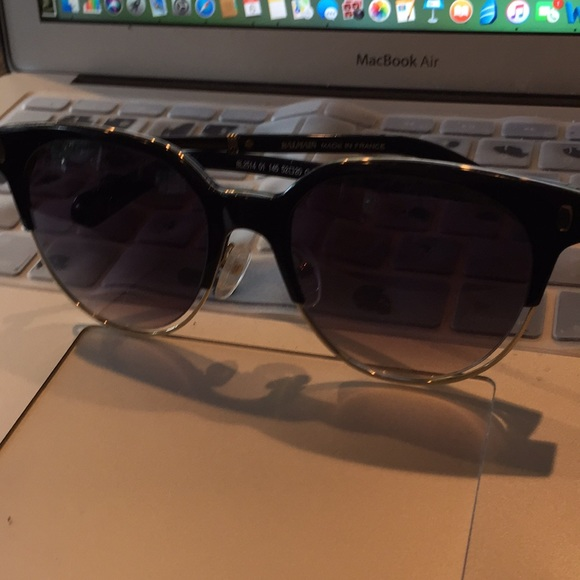 04d0093a373d9 Balmain Accessories - Balmain BL2514 Black Wayfarer Sunglasses